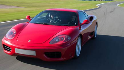 Get in the driving seat of this 183 mph 400 bhp Ferrari 360 supercar which is capable of doing 0 - 60 mph in 4.5 seconds